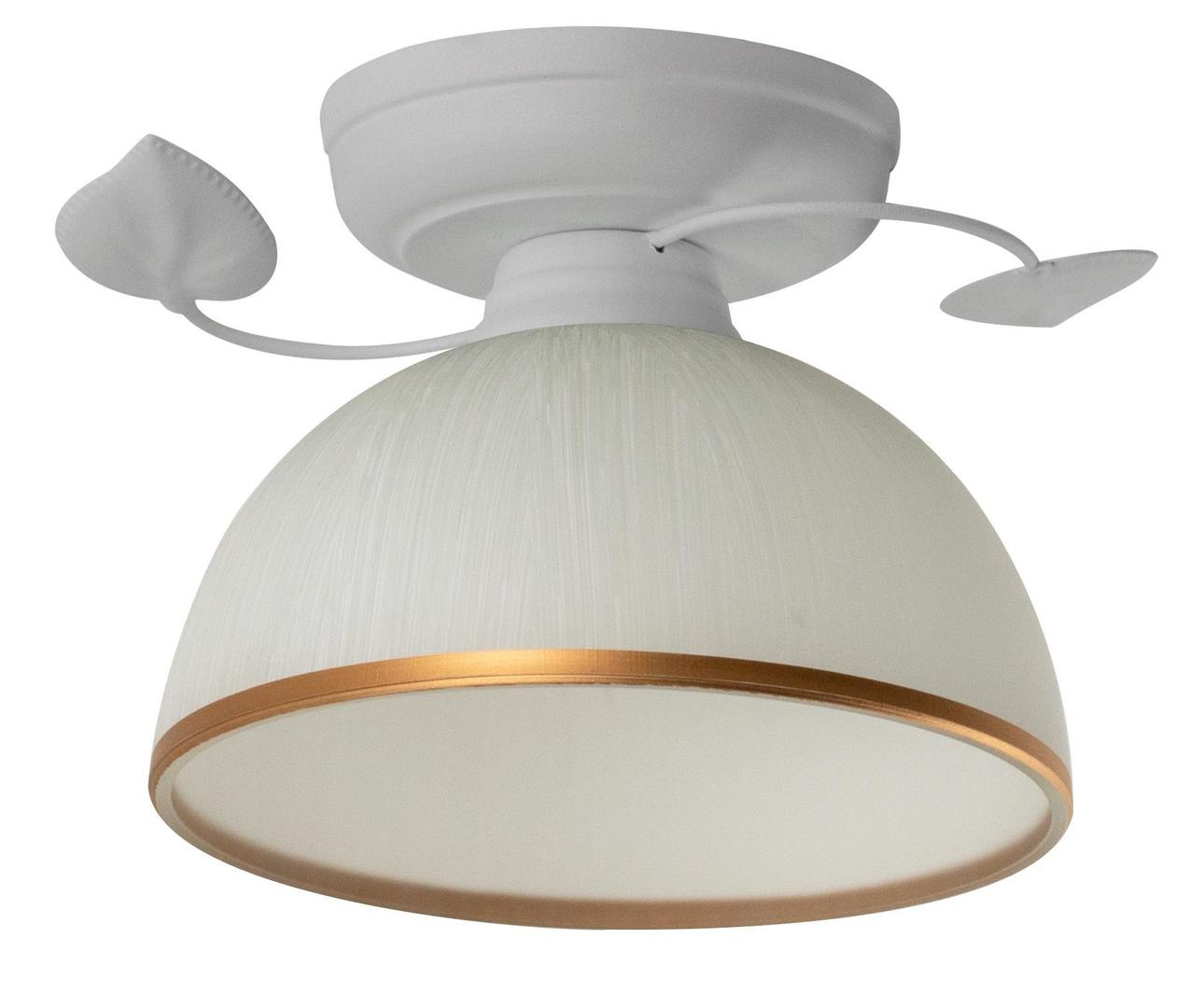Retro Lampa Sufitowa Tanzania B Biała