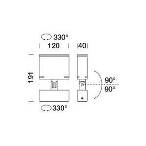 Mały naświetlacz Platek TARGET - 4 LED 3000K 9 °     small 6