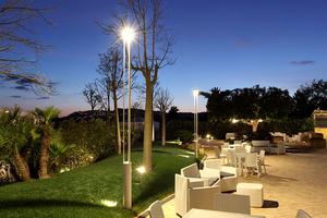 Latarnia ogrodowa Platek - TRIS COB LED 3000K small 4