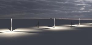 Latarnia ogrodowa Platek - TRIS COB LED 3000K small 9