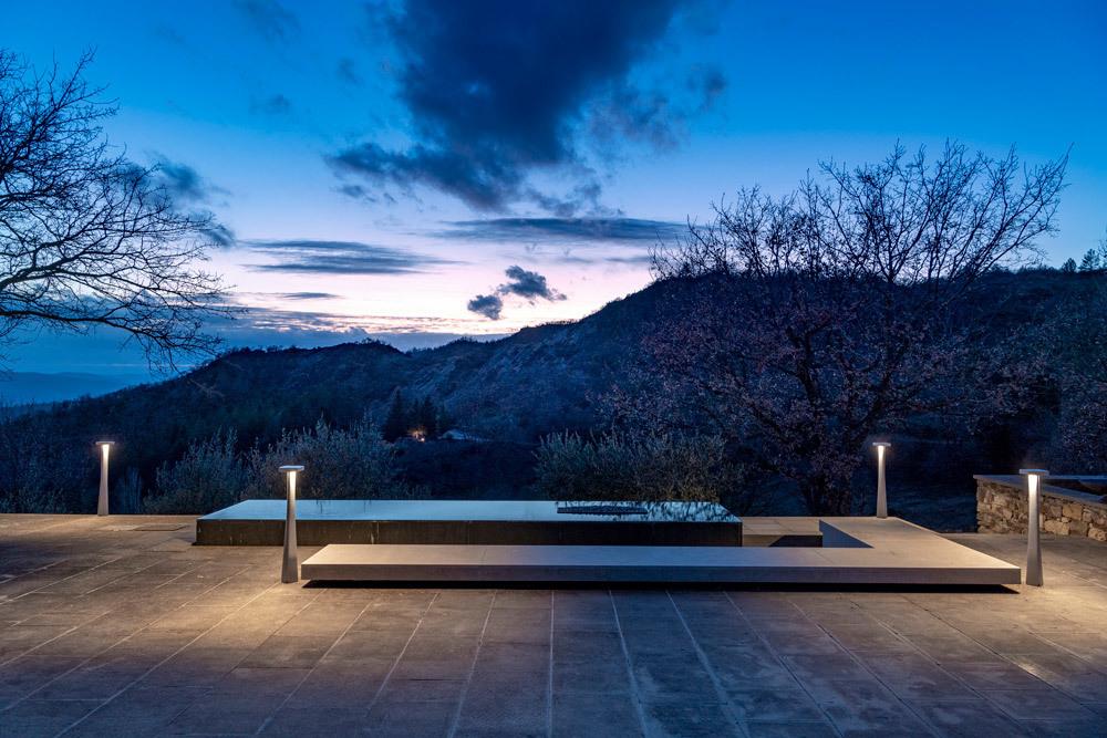 Lampa stojąca ogrodowa Platek BLEND