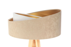 Lampa stojąca podłogowa Crown 60W E27 welur, beż / biały small 1