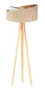 Lampa stojąca podłogowa Crown 60W E27 welur, beż / biały small 3
