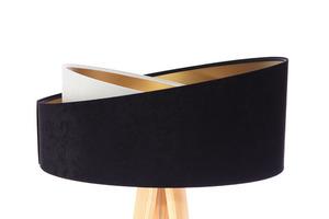 Lampa stojąca nowoczesna Crown 60W E27 welur, czarny / biały small 1