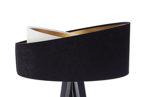 Lampa stojąca nowoczesna Crown 60W E27 welur, czarny / biały small 8