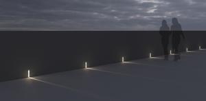 Lampa wpuszczana w ścianę Platek - MASK 3000K small 5