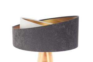 Lampa na statywie Crown 60W E27 welur, szary / biały / złoty small 1