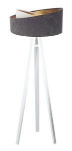 Lampa na statywie Crown 60W E27 welur, szary / biały / złoty small 11