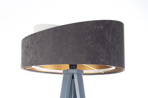 Lampa na statywie Crown 60W E27 welur, szary / biały / złoty small 4