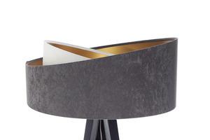 Lampa na statywie Crown 60W E27 welur, szary / biały / złoty small 8