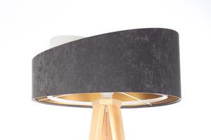 Lampa na statywie Crown 60W E27 welur, szary / biały / złoty small 0