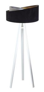 Lampa stojąca czarna Crown 60W E27 welur, szary / złoty / srebrny small 10