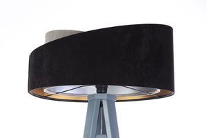 Lampa stojąca czarna Crown 60W E27 welur, szary / złoty / srebrny small 3