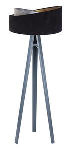 Lampa stojąca czarna Crown 60W E27 welur, szary / złoty / srebrny small 6