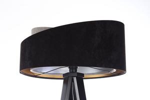 Lampa stojąca czarna Crown 60W E27 welur, szary / złoty / srebrny small 7