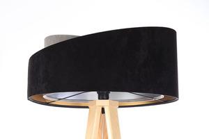 Lampa stojąca czarna Crown 60W E27 welur, szary / złoty / srebrny small 0