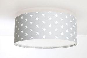 Plafon do pokoju dziecięcego Luminance szary w gwiazdki E27 60W LED small 1