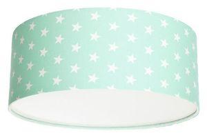 Plafon dla dziewczynki Luminance gwiazdki E27 60W LED miętowy small 1