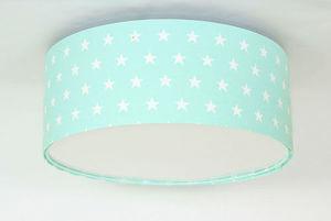 Plafon dla dziewczynki Luminance gwiazdki E27 60W LED miętowy small 0