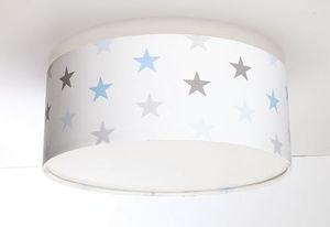 Plafon dla chłopca Luminance E27 60W LED gwiazdki biały / szary / niebieski small 0