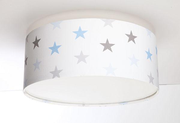 Plafon dla chłopca Luminance E27 60W LED gwiazdki biały / szary / niebieski