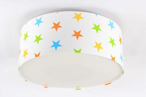 Lampa dziecięca plafon Luminance E27 60W LED biały / kolorowe gwiazdki