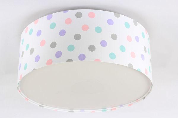 Oświetlenie do pokoju dziecięcego - plafon Luminance E27 60W LED pastelowe kropki