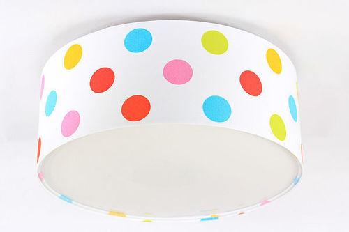 Lampka dla dzieci - plafon Luminance E27 60W LED kolorowe kropki