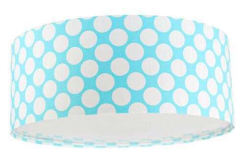 Plafon do pokoju dziecięcego Luminance E27 60W LED niebieski / biały, kropki