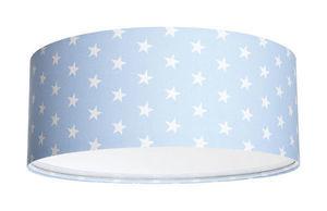 Lampa sufitowa do pokoju chłopca - plafon Luminance E27 60W LED pudrowy niebieski / biały small 1