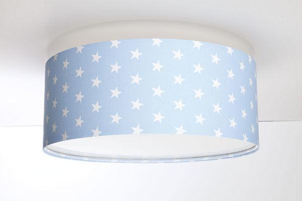 Lampa sufitowa do pokoju chłopca - plafon Luminance E27 60W LED pudrowy niebieski / biały