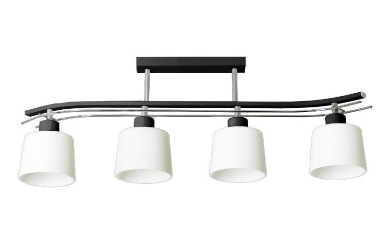 Klasyczna Lampa Sufitowa Olimp 4 Czarna