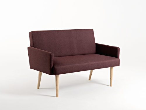 Sofa REDEN 2 os. - hematyt(ml69), naturalny