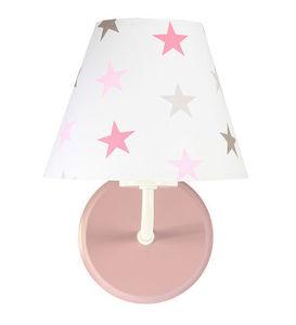 Kinkiet do pokoju dziewczynki Raggio E27 60W szaro-różowe gwiazdki small 2