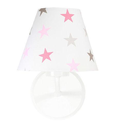 Kinkiet do pokoju dziewczynki Raggio E27 60W szaro-różowe gwiazdki