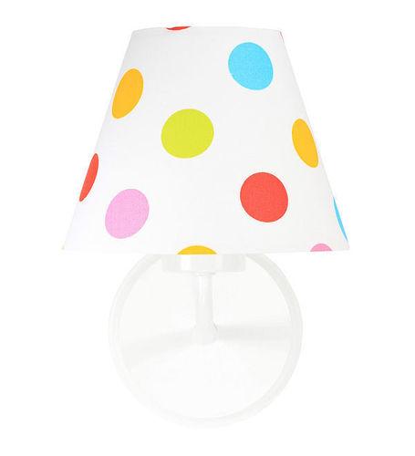 Kinkiet stożek w kolorowe kropki Raggio E27 60W dla dzieci