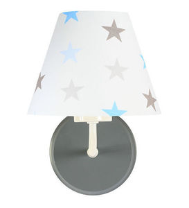 Kinkiet dla chłopca Raggio E27 60W biały / szaro-niebieskie gwiazdki small 2