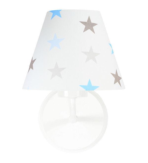 Kinkiet dla chłopca Raggio E27 60W biały / szaro-niebieskie gwiazdki