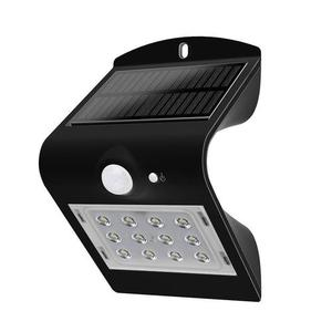 Kinkiet Solarny 1.5W LED  4000K Czarny 220lm small 0