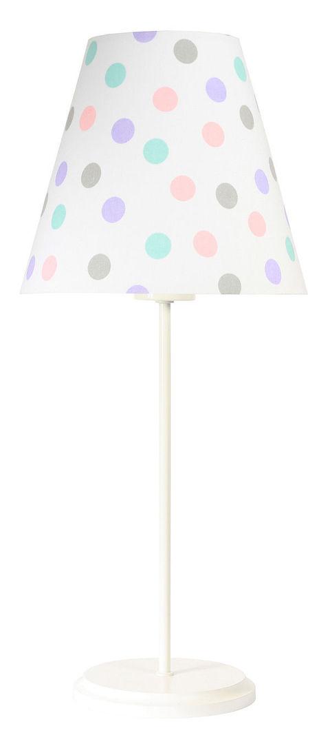 Lampa stołowa dla dzieci Ombrello 60W E27 50cm pastelowe kropki