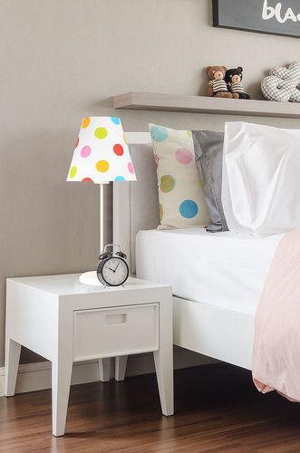 Lampa dla dziecka Ombrello 60W E27 50cm kolorowe kropki, na biurko