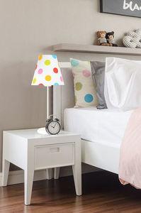 Lampa dla dziecka Ombrello 60W E27 50cm kolorowe kropki, na biurko small 0