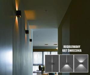 Kinkiet zewnętrzny LED Kreo 2x3w kwadrat 4000K  regulowany kąt świecenia small 0