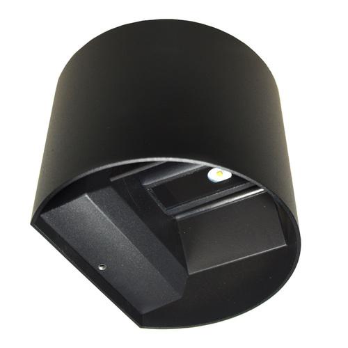 Oprawa elewacyjna LED Kreo 2x3w okrągły 4000K czarny Kreo 2x3w 4000K  regulowany kąt świecenia