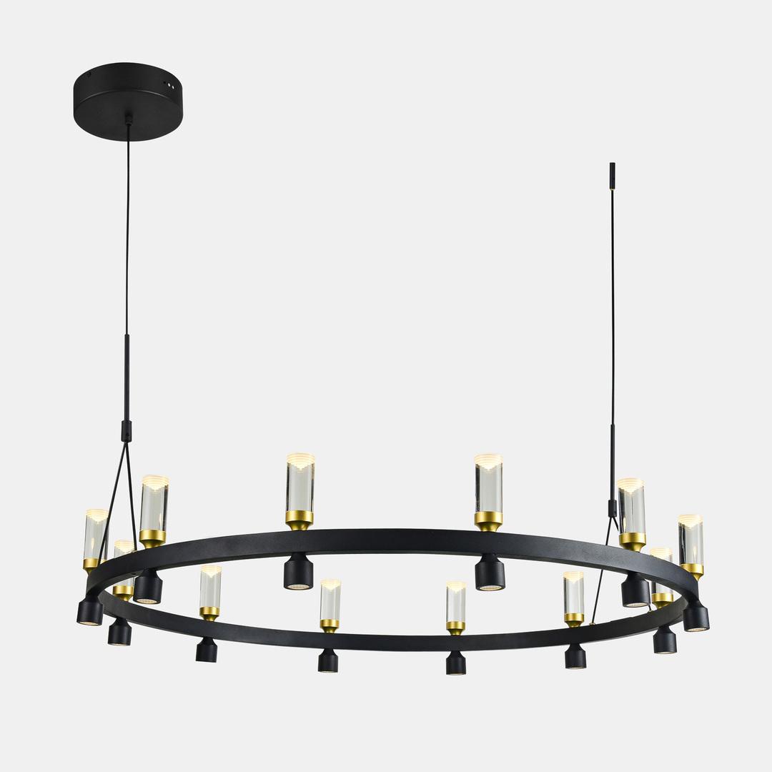 Czarna Lampa Wisząca Almelo LED