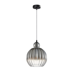 Czarna Lampa Wisząca Biron E27 small 1