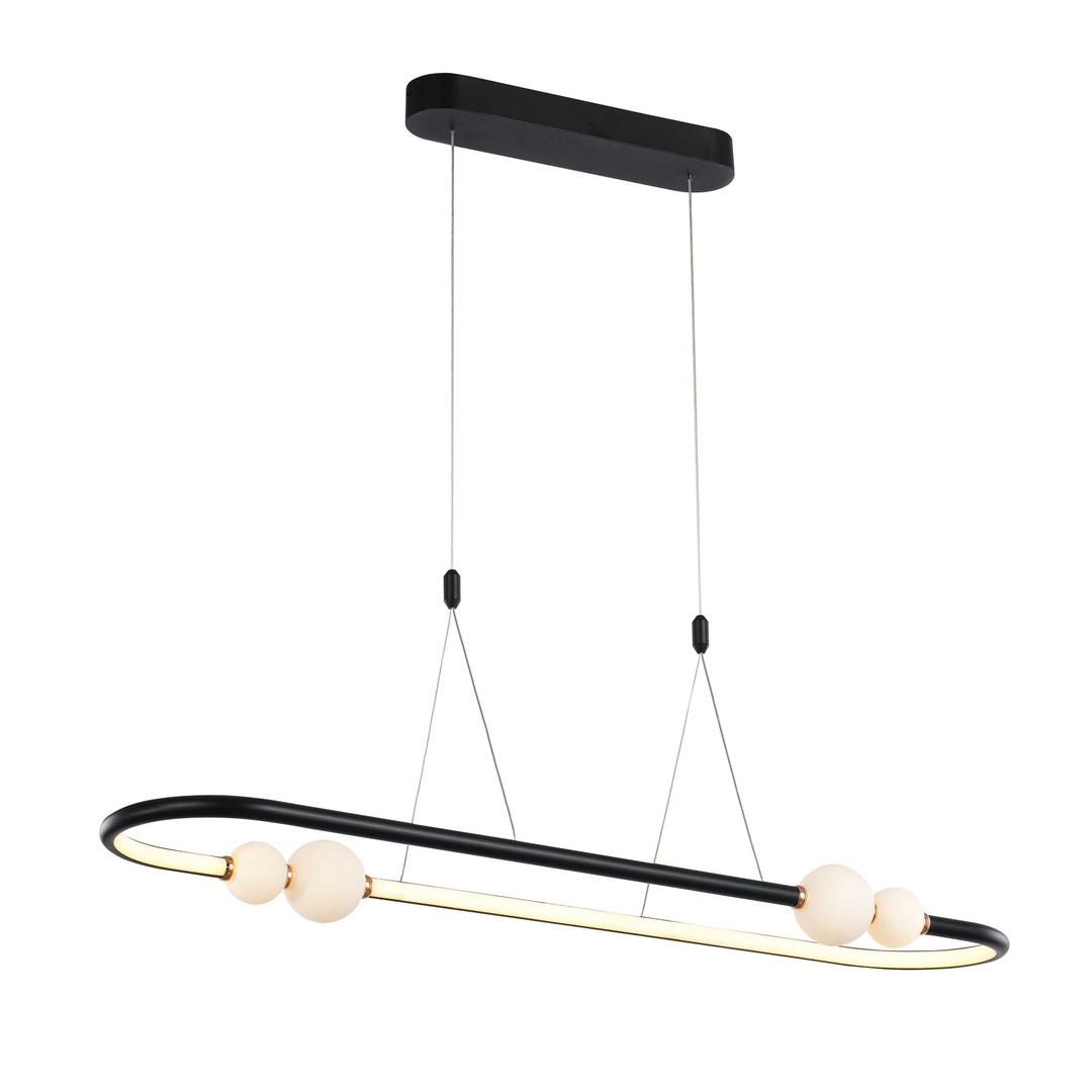 Czarna Lampa Wisząca Lozanna LED