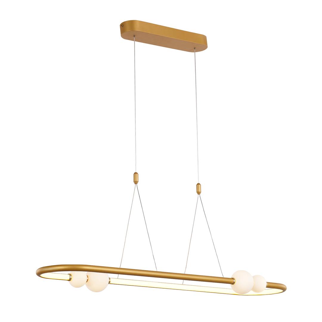 Brązowa Lampa Wisząca Lozanna LED