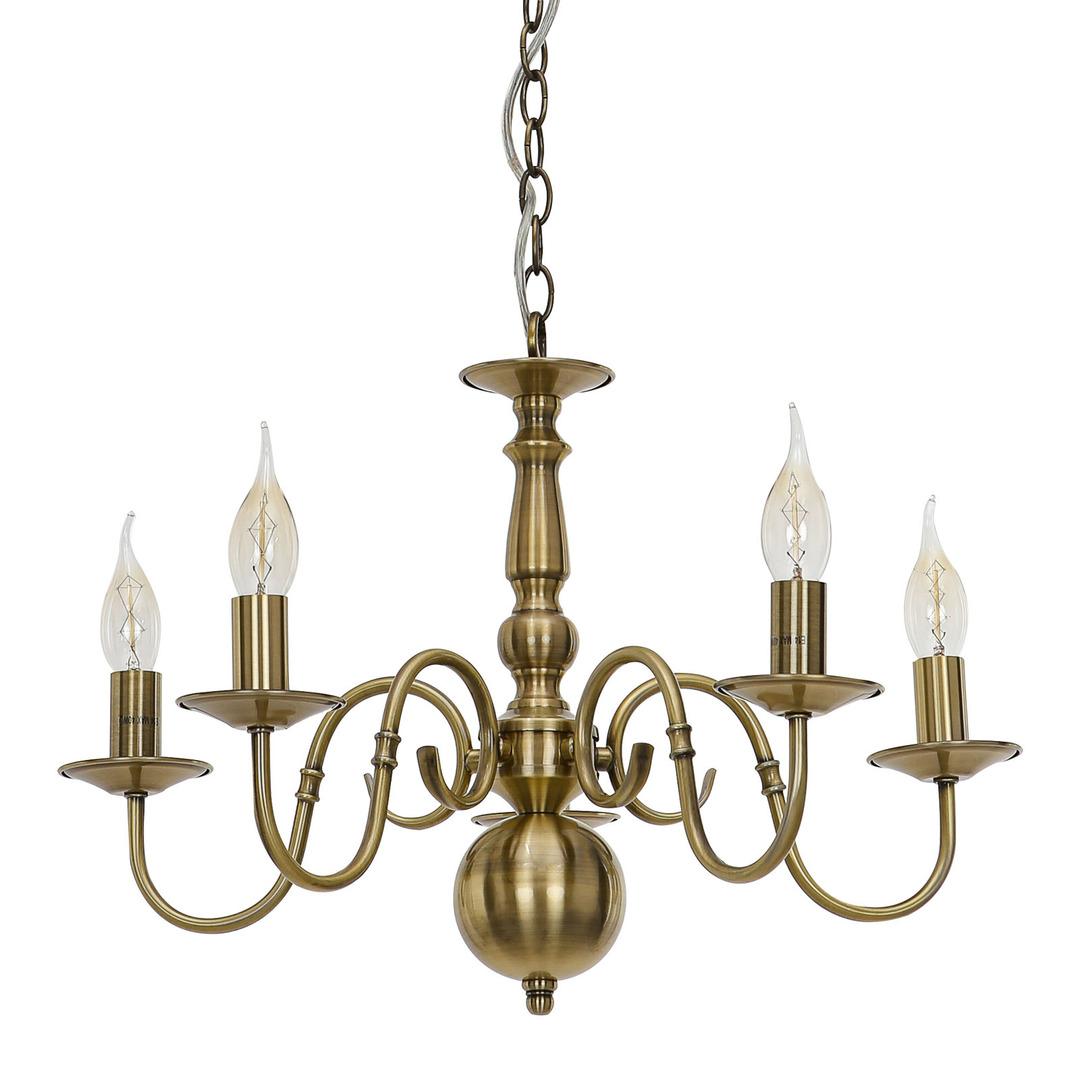 Brązowa Lampa Wisząca Marion E14 5-punktowa