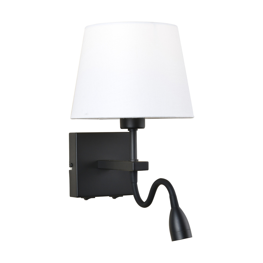 Czarna Lampki Nocne Norte E27 2-punktowa